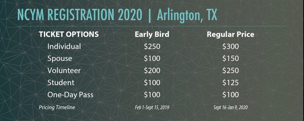 2020 Registration Table